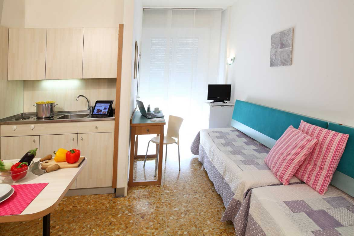 Standard double room with kitchenette private en-suite bathroom and Wi-Fi connection. Double bed or twin beds.<br />